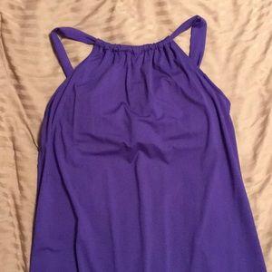 Athleta Blue Halter Casual Dress